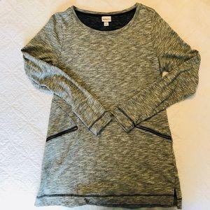 Merona gray sweater tunic